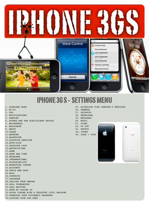 iPhone 3G S Settings Menu